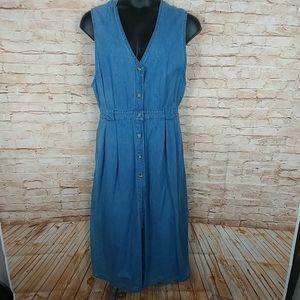 Bryn Connelly Vintage Jean dress Sleeveless SZ 16